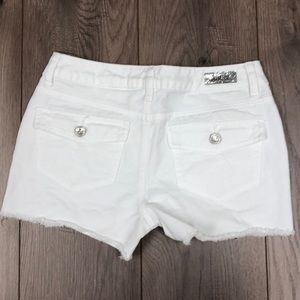 Justice Bottoms - White Justice Girls Jean Shorts